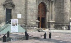 El sismo destruye La Esperanza de la catedral de Ciudad de México