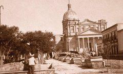 Construcción del templo parroquial de San José Iturbide