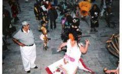 La danza de Concheros en la fiesta de La Cruz de Los Milagros