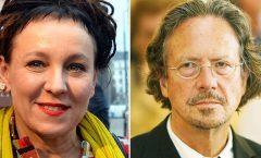 Olga Tokarczuk y piterHandke premios Nobel de literatura 2018 y 2019 respectivamente