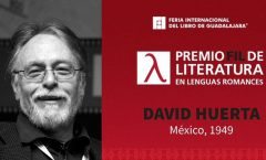 Palabras deeel galardonado con el premio FIL David Huerta