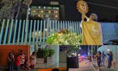 Llevan a Jesús sacramentado a hospitales de Querétaro