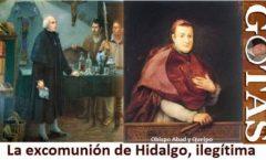 Sobre el levantamiento de excomunión a Miguel Hidalgo y a J.M. Morelos