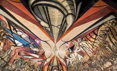 """El mural """"La marcha de la humanidad"""" La Capilla Sixtina Mexicana"""