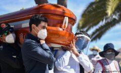 México sube al tercer lugar global.  Suman ya más de 155 mil muertos por el Covid-19