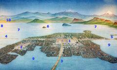 difícil imaginar nuestra ciudad rodeada de lagos, cruzada por canales, con islas y ríos