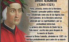 Dante Alighieri (1265–1321) será la estrella de 2021 en Italia. 700 años de su muerte