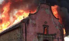 La tragedia del incendio de la iglesia de Santiago Apóstol, en Nurío, Michoacán,