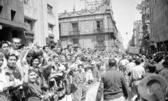 La histórica marcha minera de 1951 en el zócalo