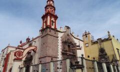 Templo de La Compañía de Jesús en Querétaro  Después Parroquia de Santiago