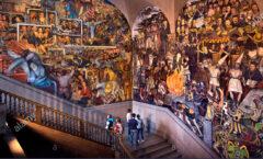 """""""Epopeya del pueblo mexicano"""" monumental fresco de Diego Rivera"""