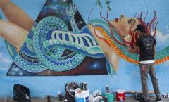 Iztapalapaun gran lienzo y una galería abierta