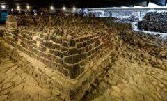 Ventanas Arqueológicas del Templo de Ehécatl y el Huei Tzompantli