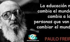 Paulo Freire habría cumplido100 años el pasado 19 de septiembre
