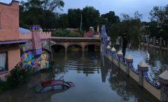 Tequisquiapan, Querétaro, inundado debido a escurrimientos de la presa Centenario  del río San Juan;